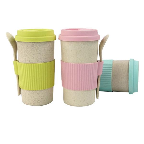 小麥秸稈咖啡店杯 350/450/550/550ml